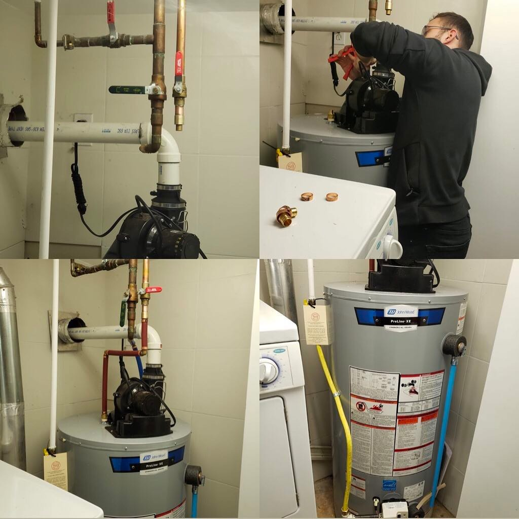 Hot water tank heat setting