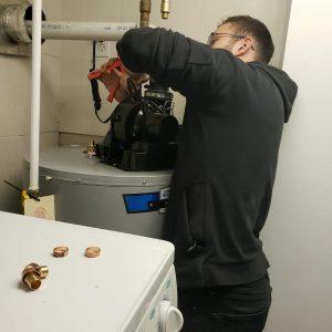 drain hot water tank